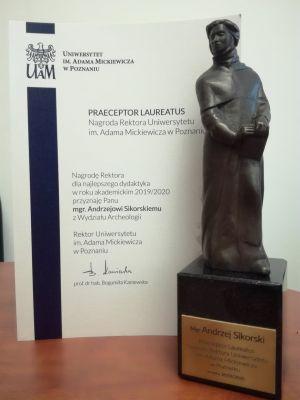Pierwszy w historii Praeceptor Laureatus dla archeologa!!!